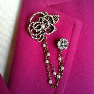 🌺 NWT Hildie & Jo Ornamented Double Brooch Pin